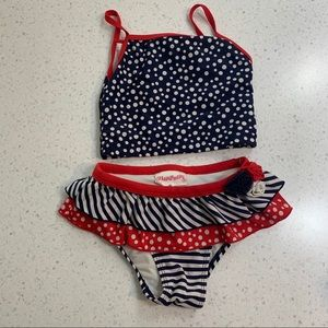 5/$20 Flapdoodles stars stripes red white swimsuit